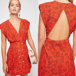 Free People Into Town Backless V-neck Dress